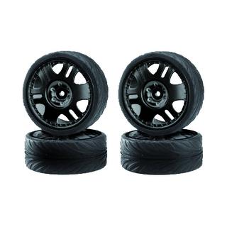 CARSON Driftband + velg (4) zwart [CAR900025]