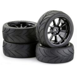 CARSON Band + velg touring TA3mm 9spaak zwart (4) [CAR900635]