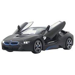 JAMARA 1:14 BMW i8 Zwart Deur open via zender [JA404570]