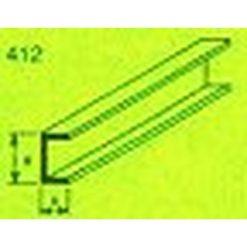 MAQUETT ABS U-profiel 5 x 10mm 1mtr (108) [RA412-59]