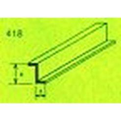 MAQUETT ABS Z-profiel 7 x 10.5mm 1mtr (171) [RA418-59]