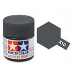 TAMIYA X-10 Gun metaal acryl.groot (1mtr) [TA81010]