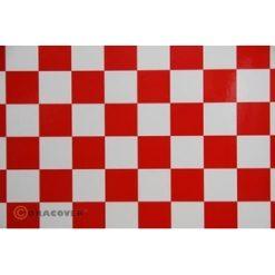 ORACOVER Wit/Rood Groot Geblokt (1mtr) [LAN431023]