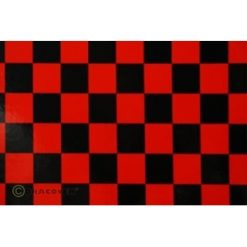 ORACOVER Rood/Zwart Groot Geblokt (1mtr) [LAN432371]