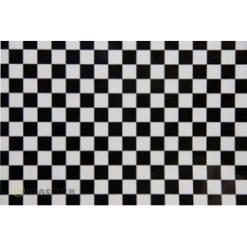ORACOVER Wit/Zwart Klein Geblokt (1mtr) [LAN441071]