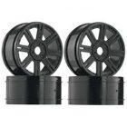 Duratrax -Velg 1:8 8 spaaks zwart 17mm (2 paar) [PRODTXC3814]
