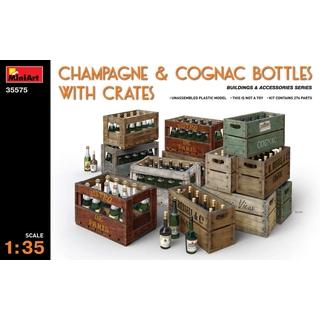 MINI-ART 1:35 Champagne & Cognac Bottles w/Crates [MNA35575]