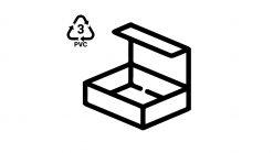 Plastic schaal bouwdozen