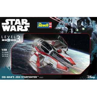 """REVELL 1:58 Star Wars """"Obi-Wan Jedi Starfighter"""" [REV03607]"""