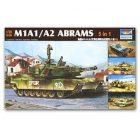 TRUMPETER 1:35 M1A1/A2 Abrams (5 in 1) [TRU01535]