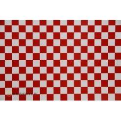 ORACOVER Wit/Rood Klein Geblokt (1mtr) [LAN441023]
