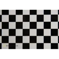 ORACOVER Wit/Zwart Groot Geblokt (1mtr) [LAN431071]