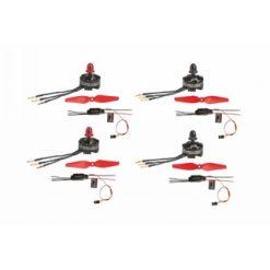 GRAUPNER 250 copter aandrijf set 4 mot.4reg.4prop [GR16550,1]