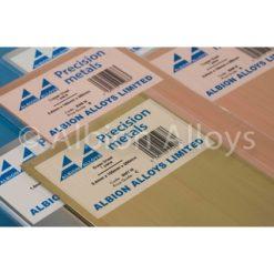 Albion Alloys messing plaat 0.12x100x250mm [ALBSM1M]