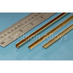 Albion Alloys Messing U profiel 2.5x2.5mm Lengte 305mm [ALBUC3]